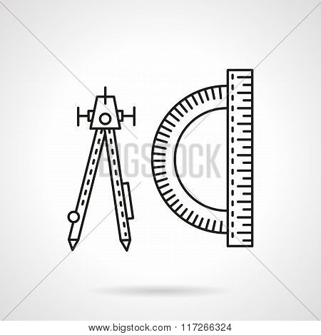 Technical tools flat line vector icon