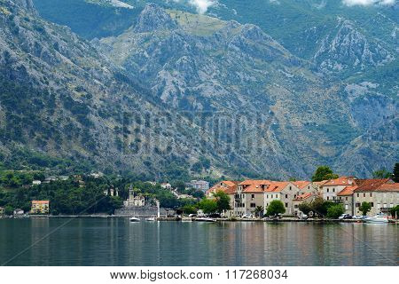 View Of Small Town Prcanj, Montenegro