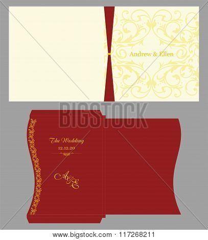 Floral Square Invitation With Envelope