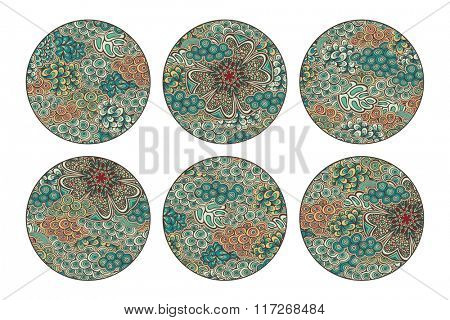 Vector circle backgrounds, color version