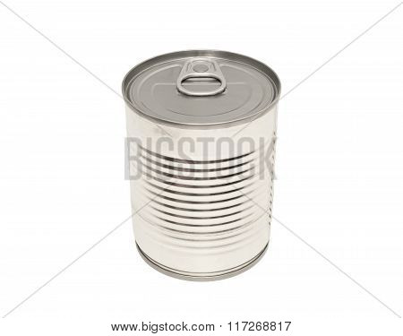 The Closed Tin Cans Isolated.
