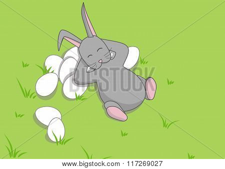 Easter Bunny on the grass