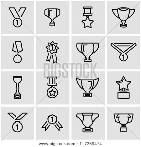 Vector Line Trophy And Awards Icon Set