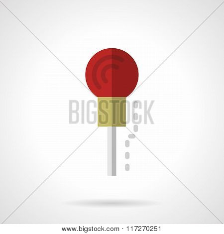 Red microphone flat color vector icon