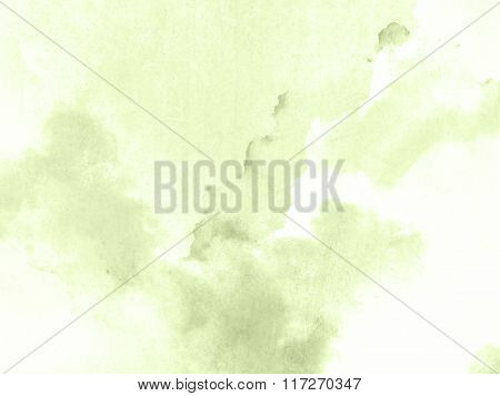 Watercolour background green - pastel spring texture abstract