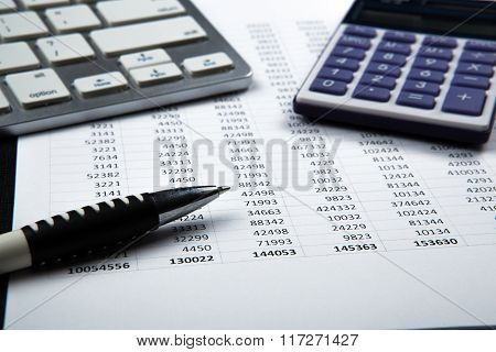 Business Still Life With Accounting