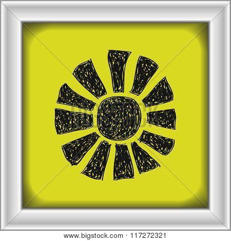 Simple Doodle Of A Sun Symbol