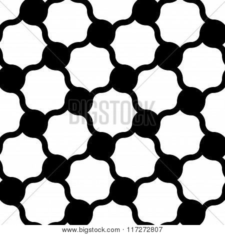 Vector modern seamless geometry pattern dots black and white abstract