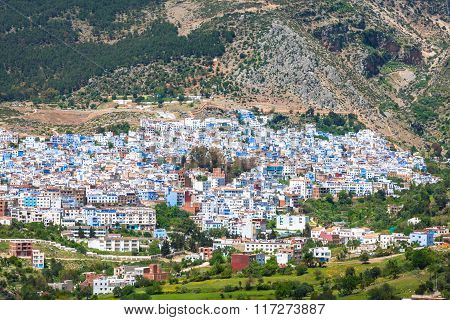 Aerial View Of Chefchaouen, Morocco