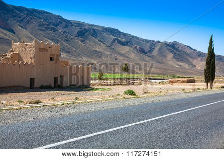 Desert Road In Morocco