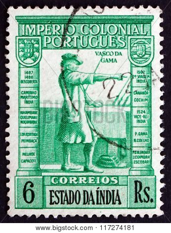 Postage Stamp Portuguese India 1938 Vasco Da Gama