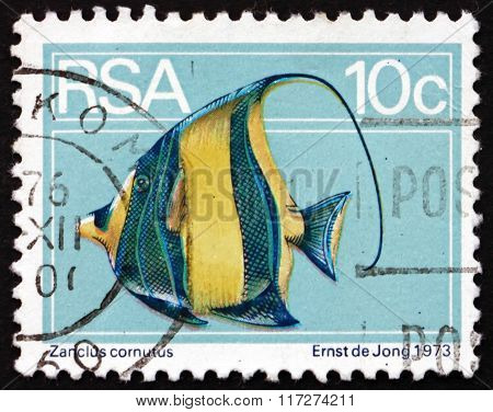 Postage Stamp South Africa 1974 Moorish Idol, Marine Fish