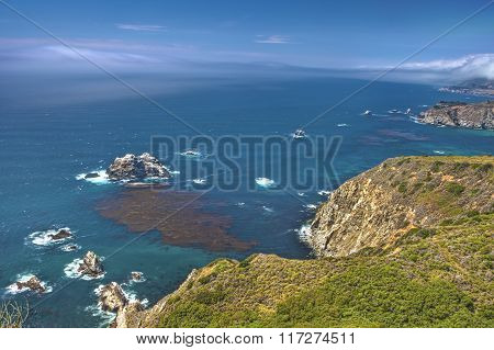 Adorable View Of Coastline In Big Sur,california, United States.