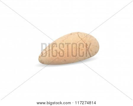 Stone On A White Background. Pebble Stone. Vector.