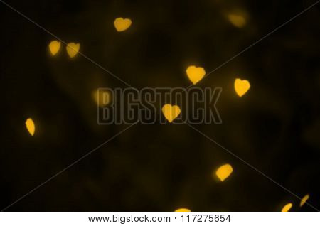 Yellow hearts texture.