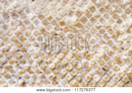 Defocused Background With Stone Brick Wall Texture