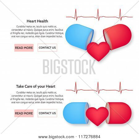 Medical and health heart concept