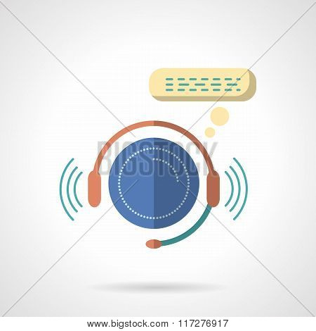 Call center abstract flat color vector icon
