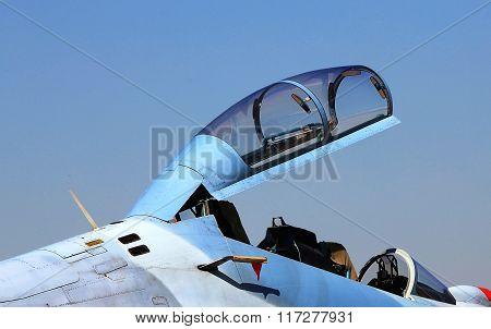 Cockpit  Of Military Jet