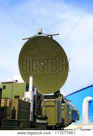 MOSCOW REGION - AUGUST 27:Antenna of the complex for passive location of air and maritime objects from the radiation of radio-electronic means (passive radar)  on August  27, 2015 in Moscow region