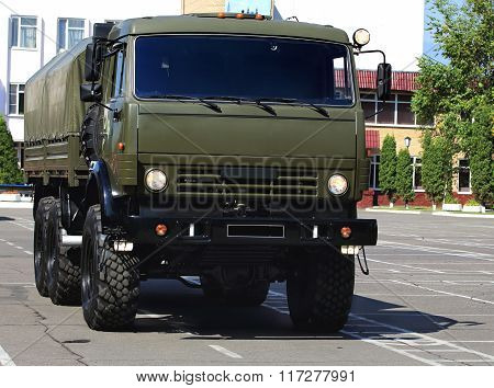 MOSCOW - JULY 12: New military all terrain truck for the transportation of personnel  - in Moscow  on July 12, 2014 in Moscow