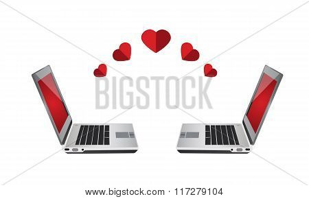 Laptop , online dating love