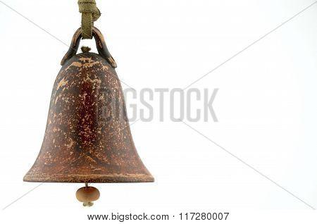 Ceramic Bell On White Backround..