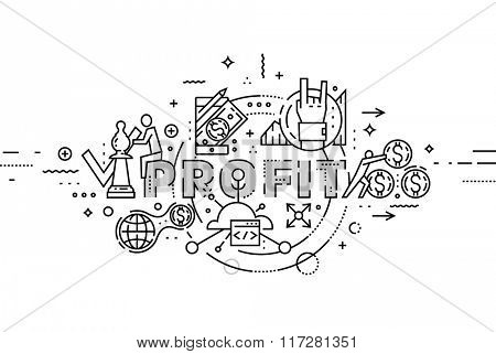 Flat Style, Thin Line Business Design. Set of application development, teamwork, web site coding, information and mobile technologies vector icons and elements. Modern concept vectors collection