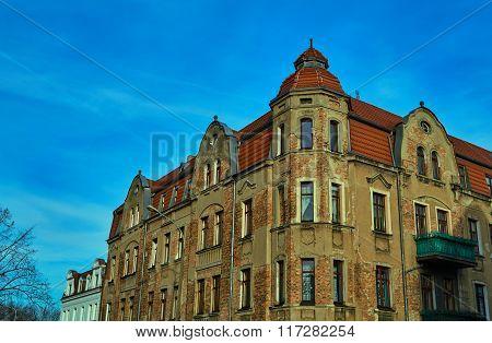 Turret and facade Art Nouveau building