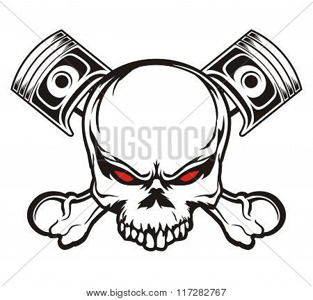 skull and piston