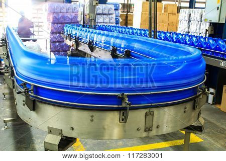 Conveyor gallons lube oil to produce factory fuel.