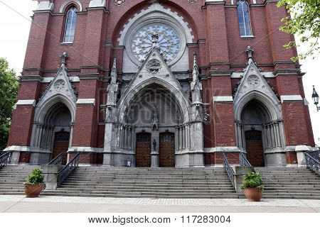 Entrance To The St. John's Church In Helsinki