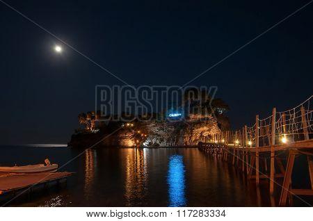 Cameo Island At Night, Zakynhtos, Greece