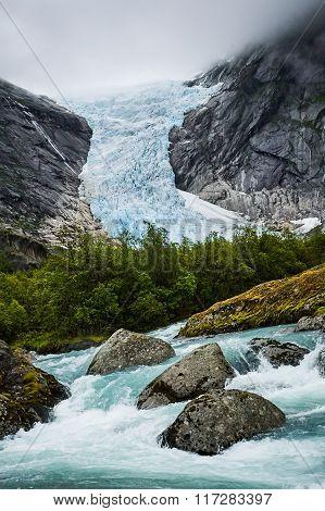 Beautiful Glacier In Norway