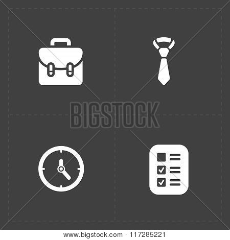 Four Modern flat social icons set on dark background