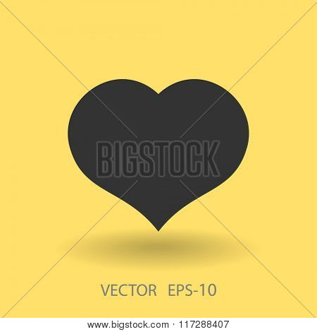 Flat icon of heart