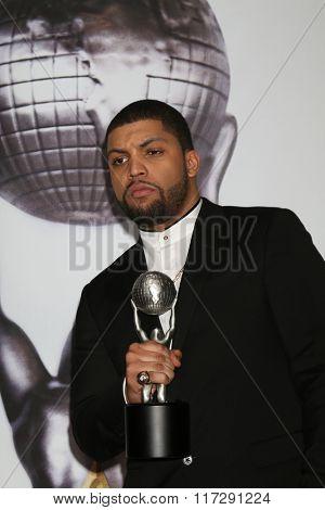 LOS ANGELES - FEB 5:  O'Shea Jackson Jr. at the 47TH NAACP Image Awards Press Room at the Pasadena Civic Auditorium on February 5, 2016 in Pasadena, CA