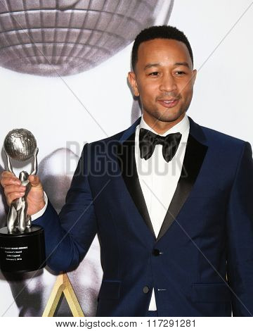 LOS ANGELES - FEB 5:  John Legend at the 47TH NAACP Image Awards Press Room at the Pasadena Civic Auditorium on February 5, 2016 in Pasadena, CA