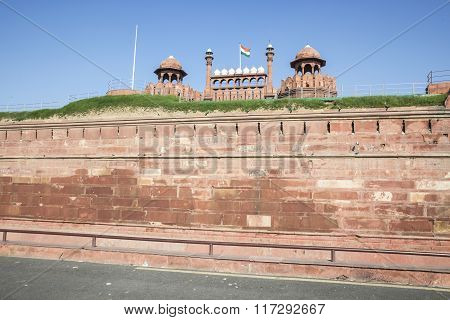 Red Fort In Closeup