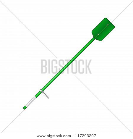 Old oar in green design