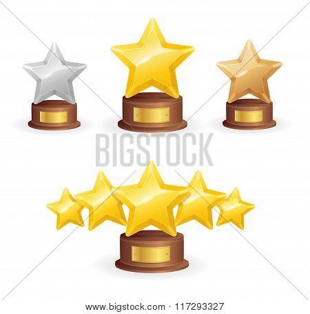 Star Award Set. Vector