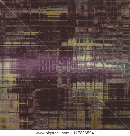 Aged grunge texture. With different color patterns: yellow (beige); brown; gray; purple (violet)