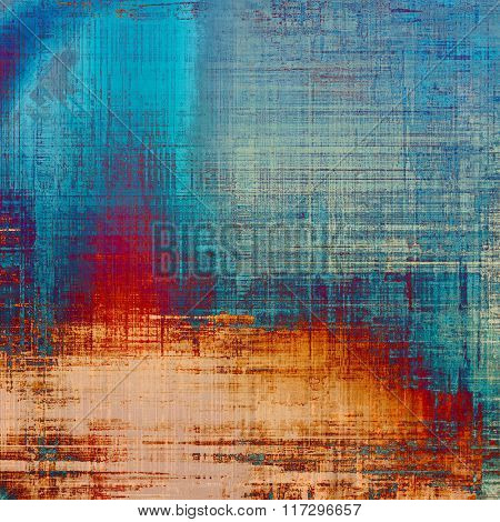 Highly detailed grunge texture or background. With different color patterns: yellow (beige); brown; red (orange); blue; cyan