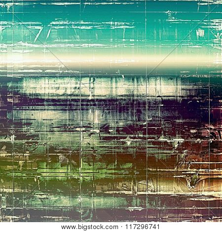 Abstract rough grunge background, colorful texture. With different color patterns: brown; white; blue; green; purple (violet)