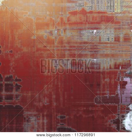 Grunge old texture as abstract background. With different color patterns: yellow (beige); brown; red (orange); gray; pink