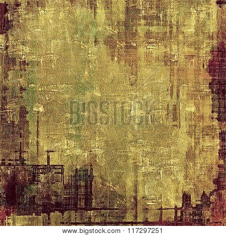 Vintage spotted textured background. With different color patterns: yellow (beige); brown; green; gray; purple (violet)