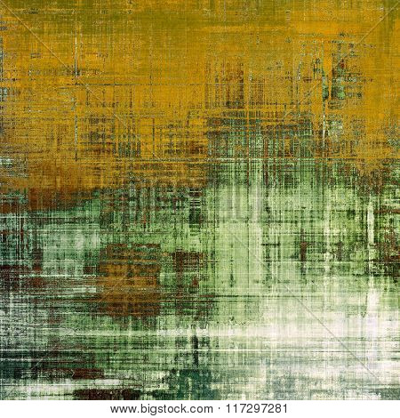 Aged grunge texture. With different color patterns: yellow (beige); brown; white; green; gray