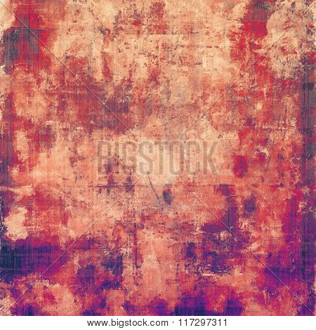 Old texture with delicate abstract pattern as grunge background. With different color patterns: yellow (beige); red (orange); pink; purple (violet)