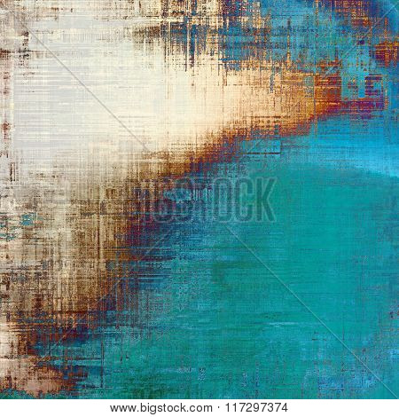Old antique texture or background. With different color patterns: brown; white; red (orange); blue; green
