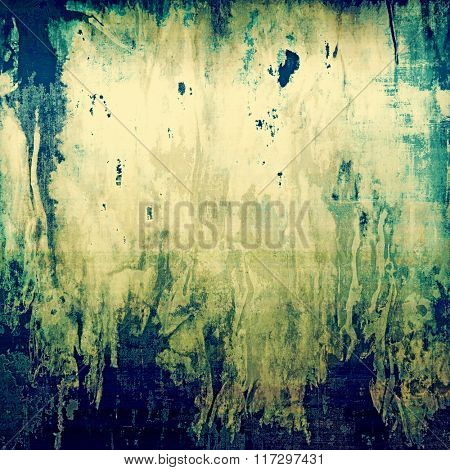 Vintage antique textured background. With different color patterns: yellow (beige); brown; blue; cyan; green